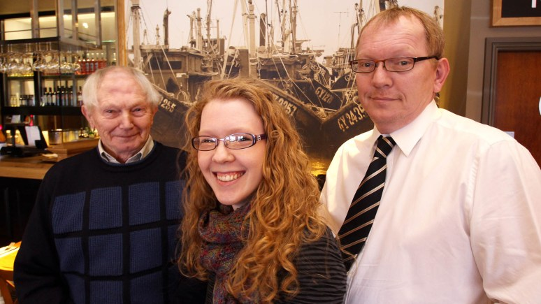 Family business (L-R): Founder David Tweedale, Sleaford shop manager Rachel Tweedale and Adrian Tweedale. Photo: Richard Addison