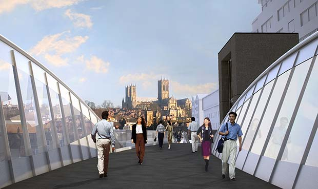 Visual from the new bridge by Stem Architects