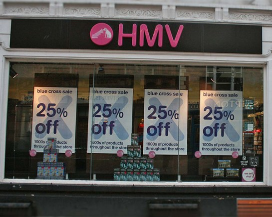 HMV store on Lincoln High Street