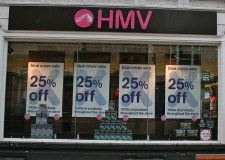 HMV store on Lincoln High Street