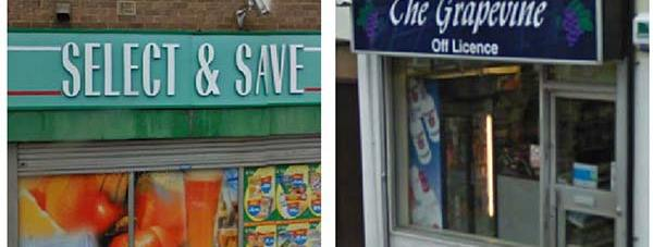 Select and Save and The Grapevine off licences