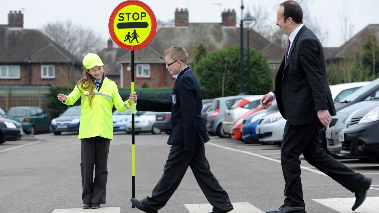Priory Witham Academy year 6 pupils Lucy Maggs and A.J. McCann, with Councillor Kelly Smith   Photo: Stuart Wilde