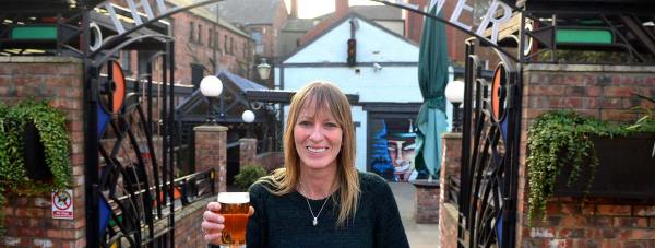 Jolly Brewer landlady Emma Chapman. Photo: Steve Smailes for The Lincolnite
