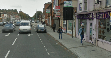 Lincoln High Street between Cranwell Street and Shakespeare Street. Photo: Google Street View