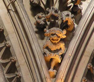 The imp at Lincoln Cathedral