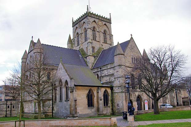 The Grimsby Imp can still be seen in St. James' Church clutching its sore bottom.