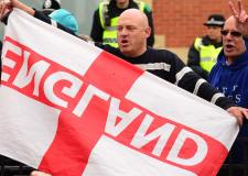 East Anglian Patriots anti-mosque protesters in Lincoln on June 8, 2013. Photo: Steve Smailes for The Lincolnite