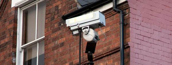 CCTV camera on Monks Road in Lincoln. Photo: Dom Clark