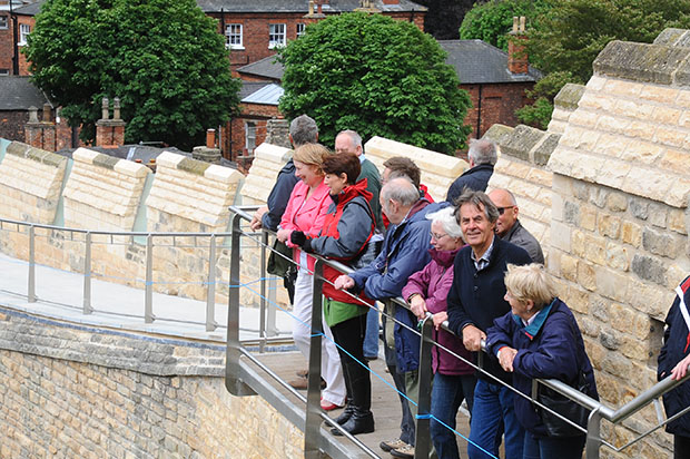 Lincoln Castle Wall guided tours.