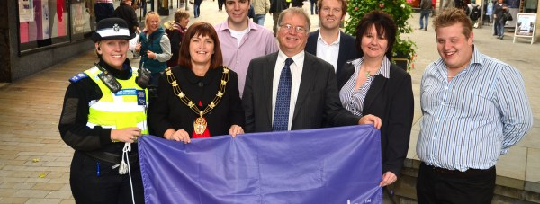 The team celebrating the Purple Flag status in 2012. Photo: Steve Smailes for The Lincolnite