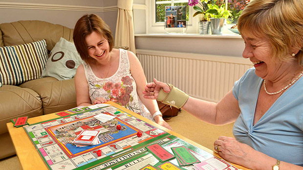 Dawn Tyas and Carol Thursby have a play of their copy of the board. Photo: Steve Smailes for The Lincolnite