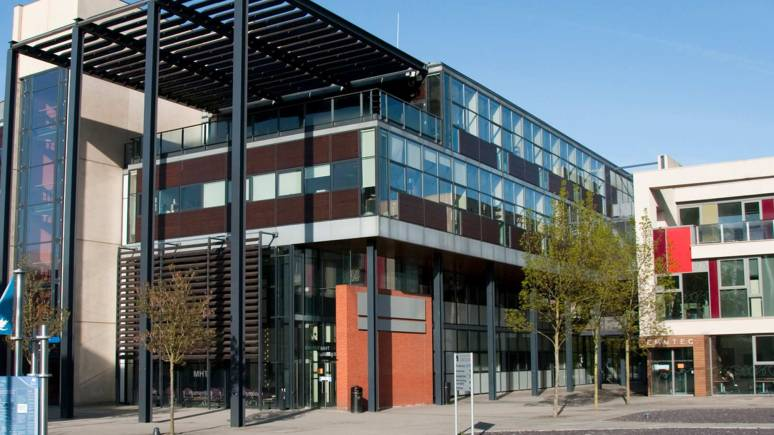 The Media, Humanities and Technology building on the University of Lincoln Brayford campus. Photo: UoL