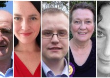 The candidates are (L-R):David Denman - Conservative,Katie Vause - Labour,Ross Pepper - Liberal Democrats,Elaine Warde — UK Independence Party, and Karen Williams — Trade Unionist and Socialist Coalition (TUSC).