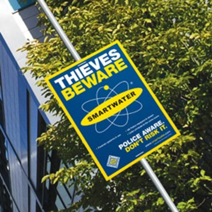 SmartWater signs will be put up in the Brant Road, Hykeham Road and Moorland areas of Lincoln as a deterrent for thieves.
