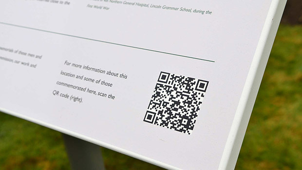 QR codes can be scanned by smartphones to deliver special content. Photo: Steve Smailes for The Lincolnite