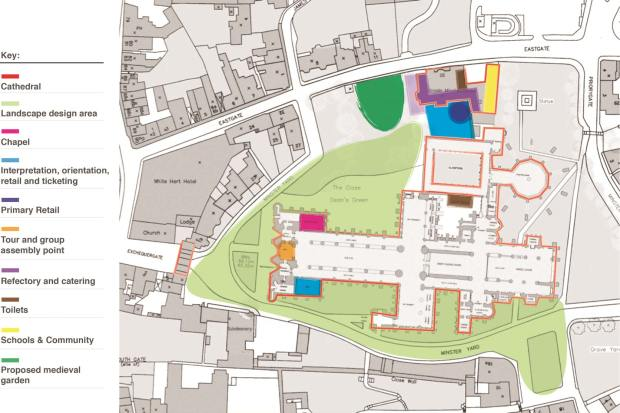An overview of the Lincoln Cathedral plans. Click to enlarge.