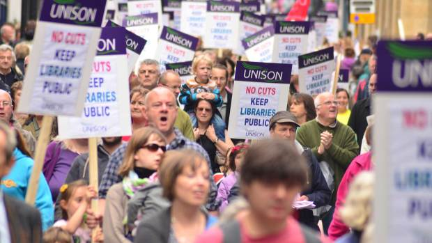 Strong support for the anti-library cuts march in Lincoln on September 21, 2013. Photo: Steve Smailes for The Lincolnite