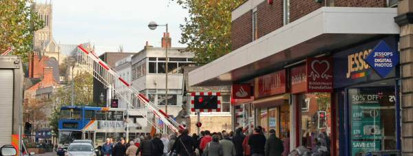 The Lincoln High Street level crossing. Photo: File/The Lincolnite