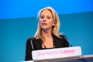 Lucy Rigby at Labour's 2013 Party Conference.