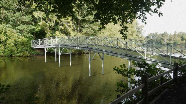 Designs of the new White Bridge at Hartsholme Park in Lincoln