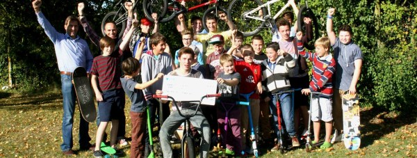 Branston Skate Park was awarded a £1,000 cheque on October 6 in a community project scheme set up by Ringrose Law.