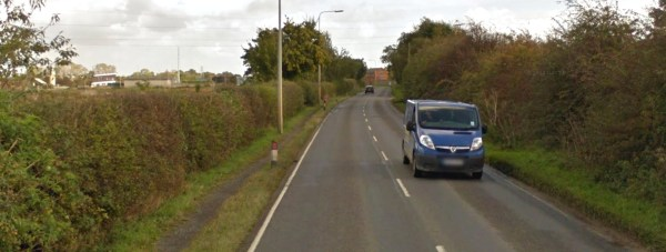 Washingborough Road Lincoln, where the crash happened in 2012. Photo: Google Street View