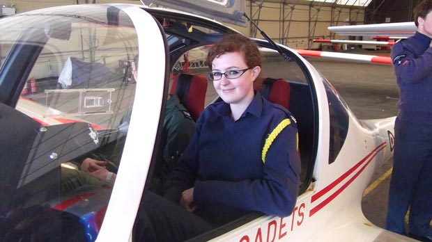 Amy Chatterton hopes to follow in her father's footsteps. She recently earned her Glider Pilot Wings.
