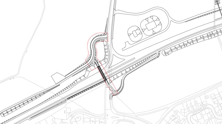 Planning application for pedestrian bridge over the Lincoln Eastern Bypass. Image: LCC