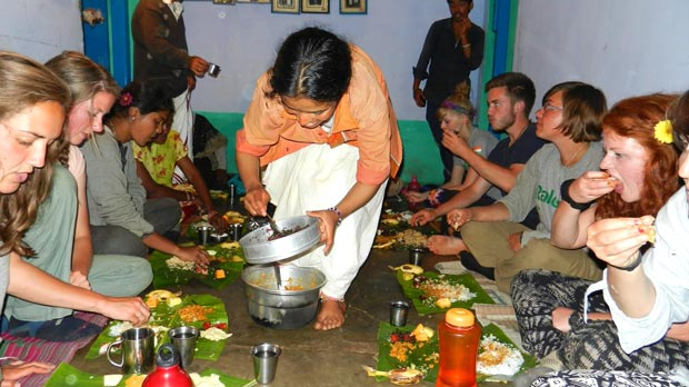 The team enjoyed friendly hospitality and traditional cuisine while staying in the village.