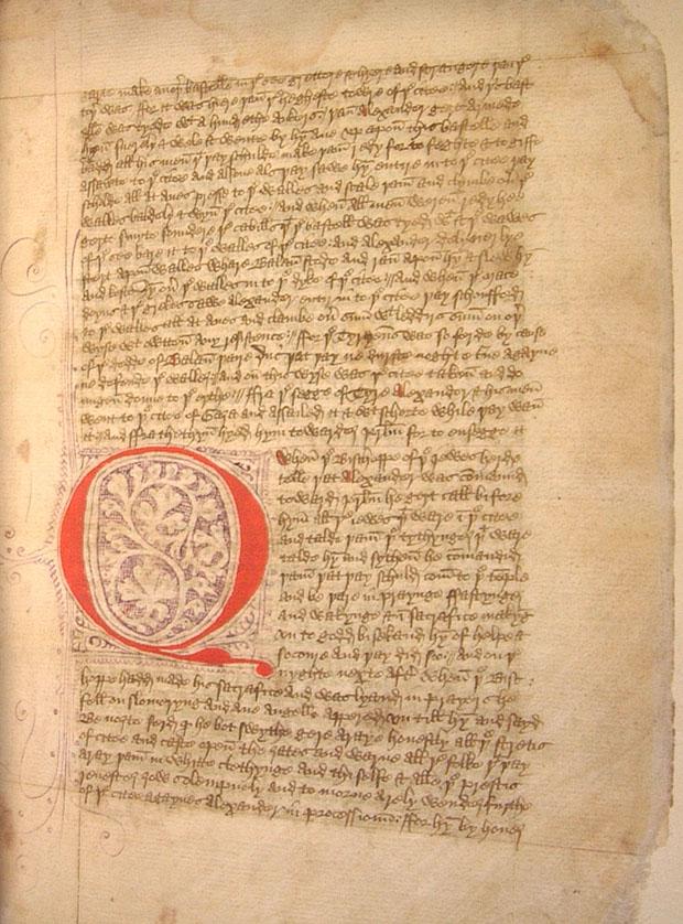 The medieval manuscript.