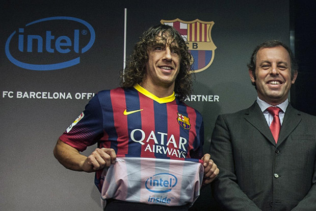 FC Barcelona and Intel's T-shirt deal.