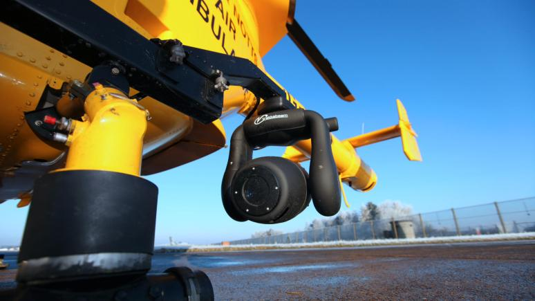 The night camera attached to the Lincolnshire and Nottinghamshire Air Ambulance. Photo: The night camera attached to the Lincolnshire and Nottinghamshire Air Ambulance.