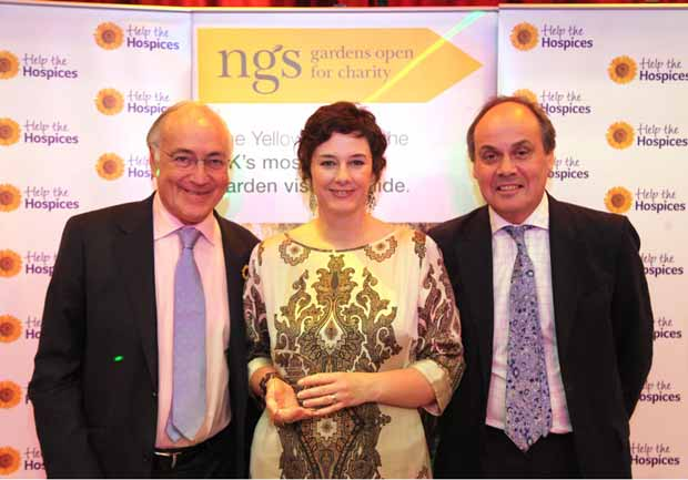 Voluntary Services Manager Lisa Gibson was presented with the award by Lord Howard of Lympne, Chairman of Help the Hospices and George Plumptre, Chief Executive of the National Gardens Scheme.