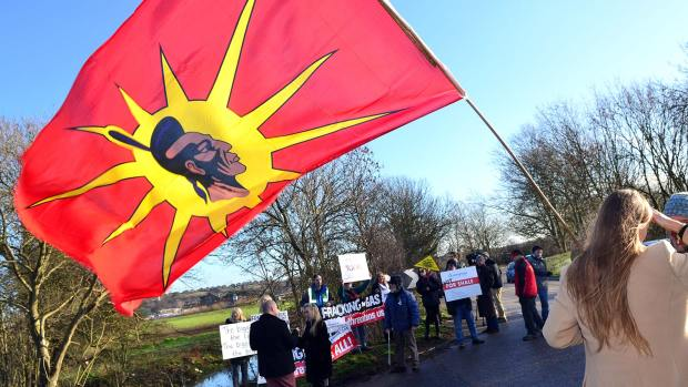 Anti-fracking protest near Gainsborough in Lincolnshire. Photo: Steve Smailes for The Lincolnite