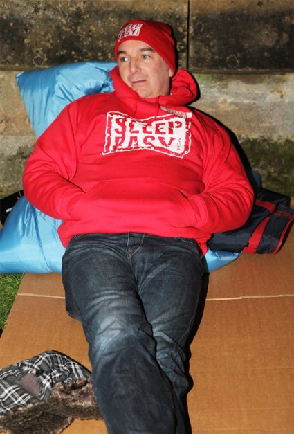 Malcolm Barham, Chief Executive at Lincolnshire YMCA, at the 2013 Sleep Easy event.