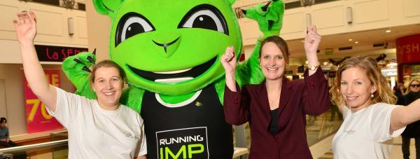 Organisers of the Workplace Challenge joined the Running Imp at Waterside Shopping Centre to launch the new challenge for businesses in Lincolnshire. Photo: Steve Smailes for The Lincolnite