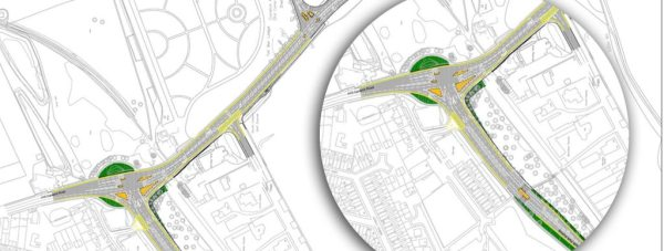 Initial plans to improve junctions on and around Canwick Road, which hope to ease congestion.