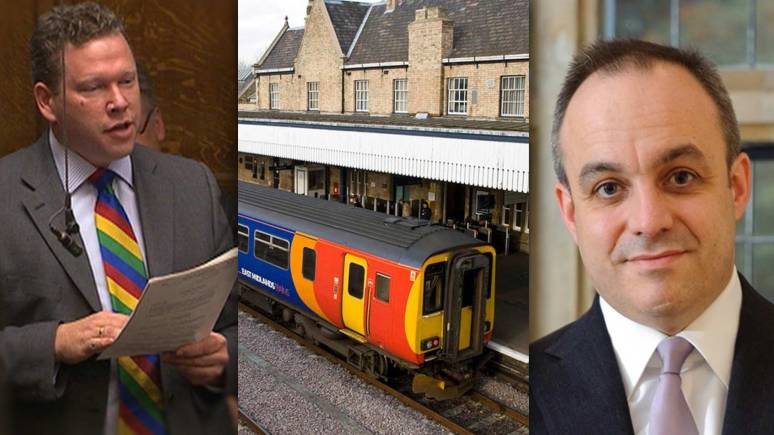Lincoln MP Karl McCartney (left) and and North Hykeham MP Stephen Phillips (right) are both pushing for better Lincoln rail links.