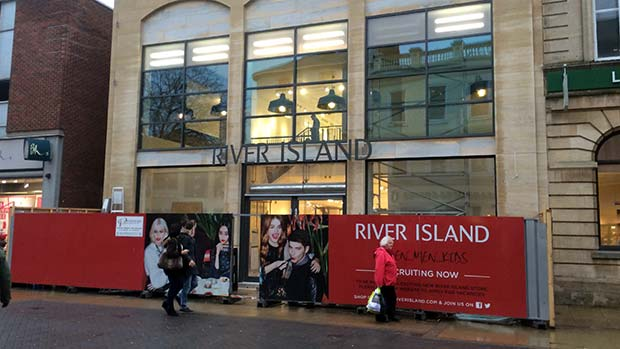 The new River Island is almost complete.
