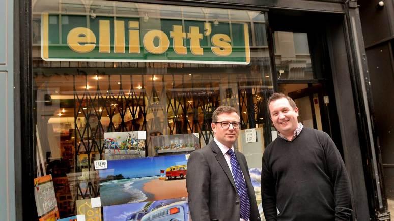 Banks Long & Co Director James Butcher and Elliott's owner Richard Turner.