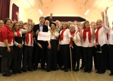The Ermine Voices Choir celebrating the launch of the new Ermine Music project. Photo: Emily Norton