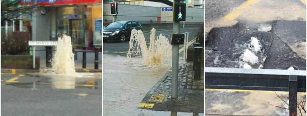 Lincoln had a temporary new water feature on Friday morning