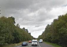 The lay-by on the A46 Lincoln bypass between the Skellingthorpe and Doddington roundabouts, where the first reported fuel theft happened. Photo: Google Street View