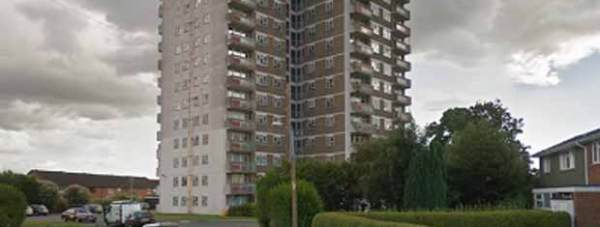 A new mast has been installed on the Trent View flats in Lincoln. Photo: Google Street View