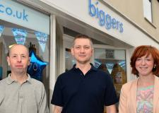 Biggers of Bailgate staff (L to R) Simon Bilton, Andrew Madden and Kate Edgar. Photo: Steve Smailes for The Lincolnite
