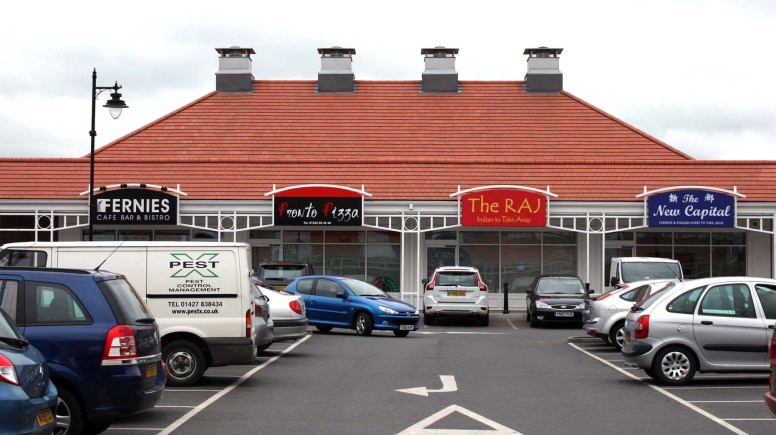 The Raj Indian takeaway at the Birchwood Shopping Centre in Lincoln.