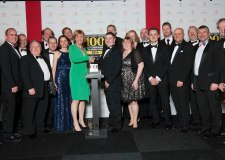 Lindum employees and guests receive their award from Karen Robinson, Editor at The Sunday Times.