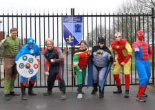 The Maths Department superheroes. Photo: Di Pyper