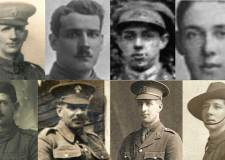 The eight brothers featuring in the letters. They all sign up to serve in World War One, but only three returned.