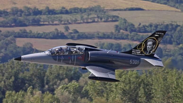 The Slovak Air Force's L-39CM CM Albatross jet trainer. Photo: RAF Waddington